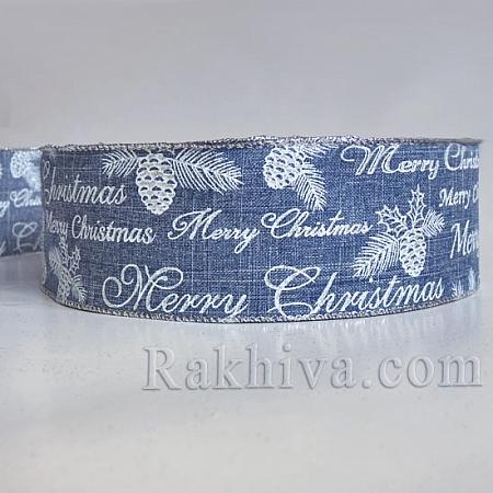Луксозни коледни панделки Merry Christmas, 38 мм / 3 м (38/3/178)