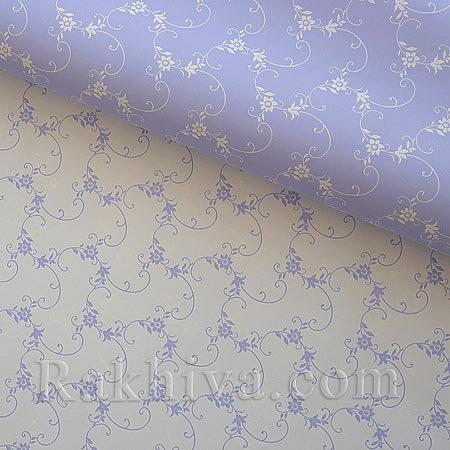 Италиански целофан Пролет люляк,бяло, 100 см х 100 см (листи) (100/100/15/90-10)