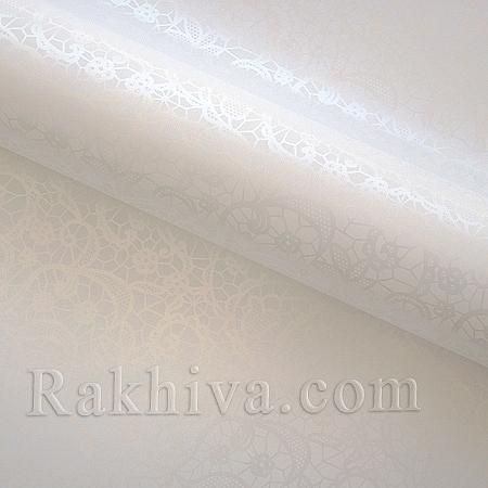 Италиански целофан Дантела перлено бяло, 100 см х 100 см (листи) (100/100/16/11)