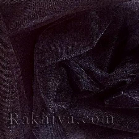 Кристален тюл - черно - МАЛКИ ПАРЧЕНЦА (по-малки от 1 л.м), черно (85/20) (за 0.3 лин. м)