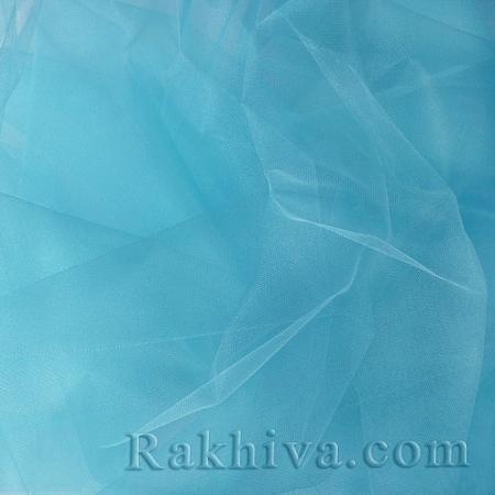 Кристален тюл - св. синьо - МАЛКИ ПАРЧЕНЦА (по-малки от 1 л.м), св. синьо (85/53) (за 0.8 лин. м)