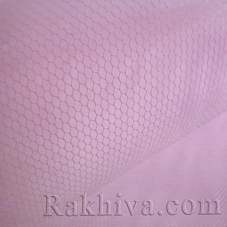 Сватбен тюл - розово, розово (84/40) (за 1 л. м)