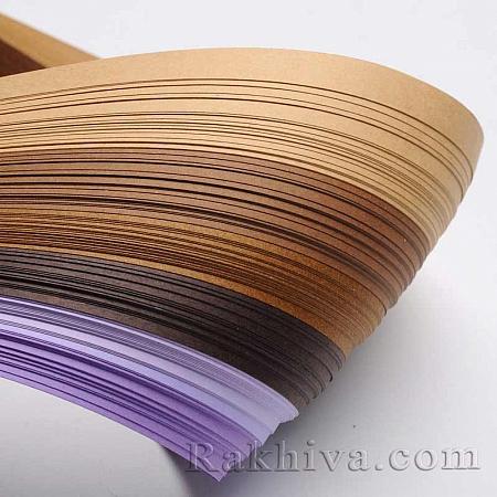 Квилинг лентички - лилава гама, 3мм/ 390мм (DIY-J001-3mm-A06)