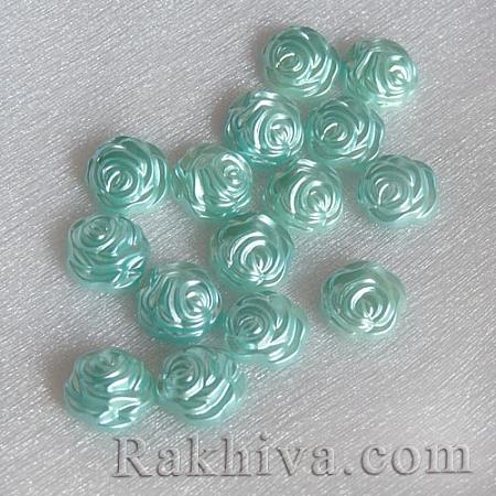 Рози от перли за обеци, медальон, за бижута и декорация, рози,тюркоаз (SACR-R857-Z19)
