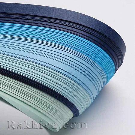 Квилинг лентички - синя гама, 3мм/ 390мм (DIY-J001-3mm-A05)
