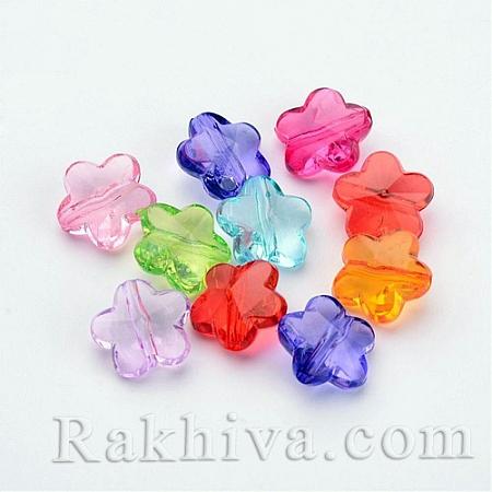Цветя Микс цветове, цветя микс, прозрачни, 50 бр. (X-PL607Y)