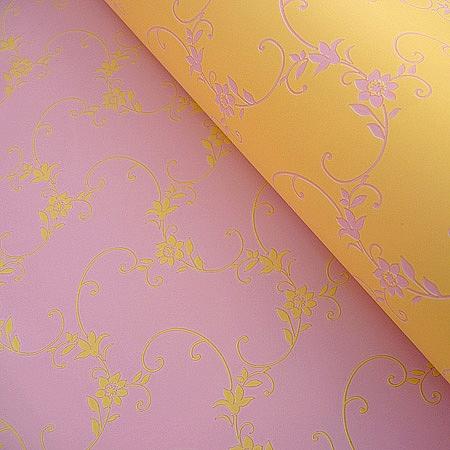 Италиански целофан Пролет млечно жълто, розово-лилаво