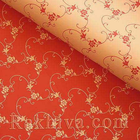 Италиански целофан Пролет праскова и червено, 100 см х 100 см (листи) (100/100/15/48-80)