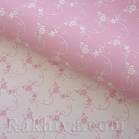 Италиански целофан Пролет розово,бяло, 100 см х 100 см (листи) (100/100/15/40-10)
