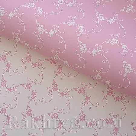 Италиански целофан Пролет розово,бяло