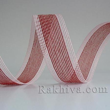 Тъкана хартиена панделка, червено, розово(30/15/2480-40)