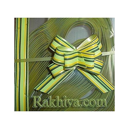 Дърпащи панделки с печат (Италия), 2 см/ 40 см зелено