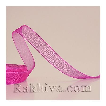 Тъкани панделки Органза, 1 ролка 6 mm/20 метра т. циклама (6/20/2246)