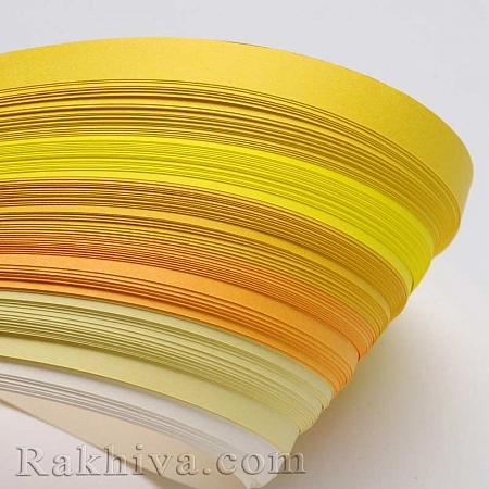 Квилинг лентички - жълта гама, 3мм/ 390мм (DIY-J001-3mm-A02)
