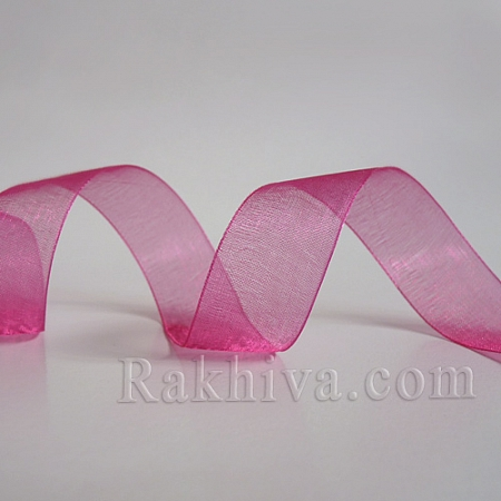 Тъкани панделки Органза, 1 ролка 2 cm/ 50ярда циклама (20/50/2245)