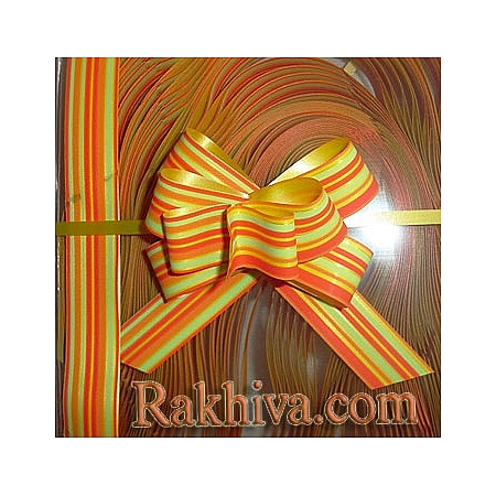 Дърпащи панделки с печат (Италия), 2 см/ оранжево