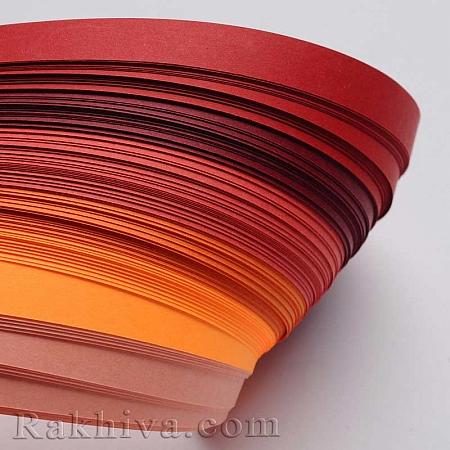 Квилинг лентички - червена гама, 3мм/ 390мм (DIY-J001-3mm-A01)