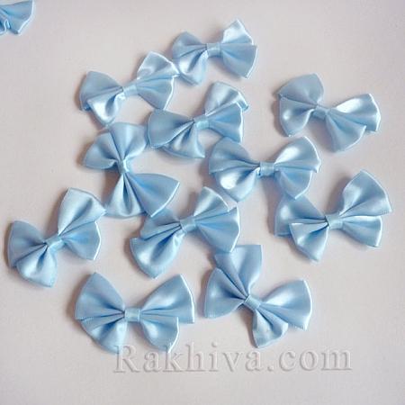 Готови панделки САТЕН, синьо, 4 бр. (WOVE-R087-15)