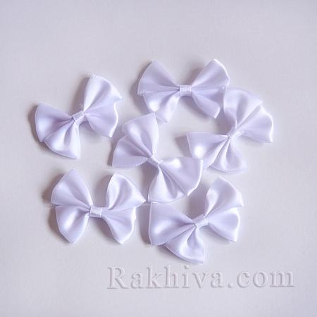 Готови панделки САТЕН, бяло, 4 бр. (WOVE-R087-19)
