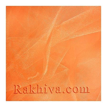 Кристален тюл - цвят праскова, праскова за 1 линеен м (3 кв. м) (85/48)