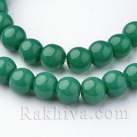 Стъклени мъниста МАТ, зелено, 4мм (GLAA-G015-4mm-11)