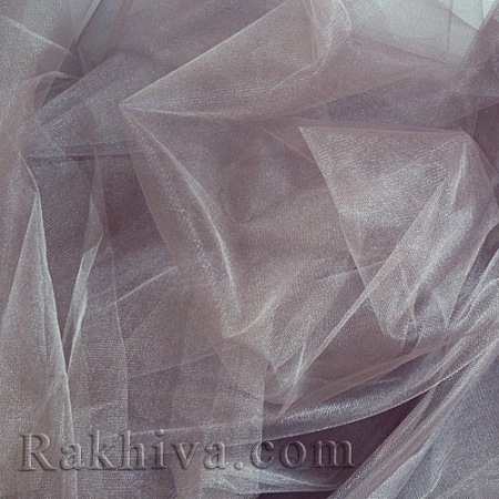 Кристален тюл - цвят антично сиво, антично сиво за 1 линеен м (3 кв. м) 85/21