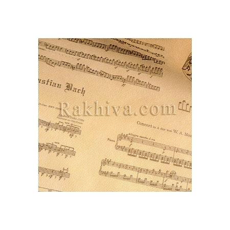 Текстилна хартия Музика, музика екрю (18м) (60/18/64012)