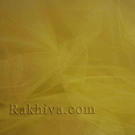Кристален тюл - жълто, жълто за 1 линеен м (3 кв. м) 85/70