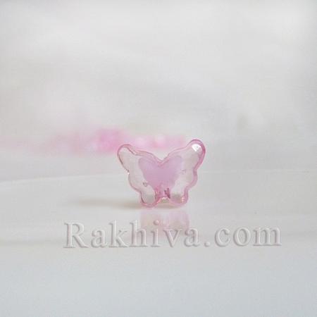 Пеперудки за декорация и бижута, розово, пеперуди, розово (TACR-S102-02)