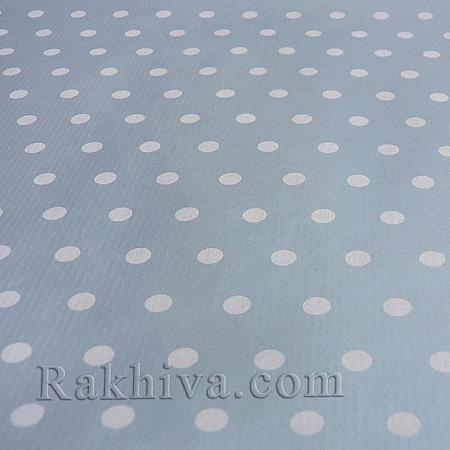 Италианска хартия за опаковане Точки, 2231, сребро (5м/ 1 ролка)