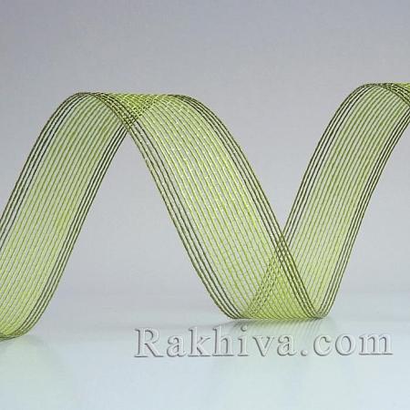 Тъкана хартиена панделка, резеда,грах (30/15/2461-62)