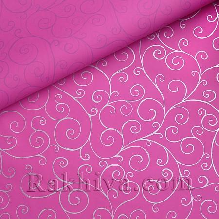 Целофан за опаковане, Спирали/ циклама, сребро (70/100/17145-300)