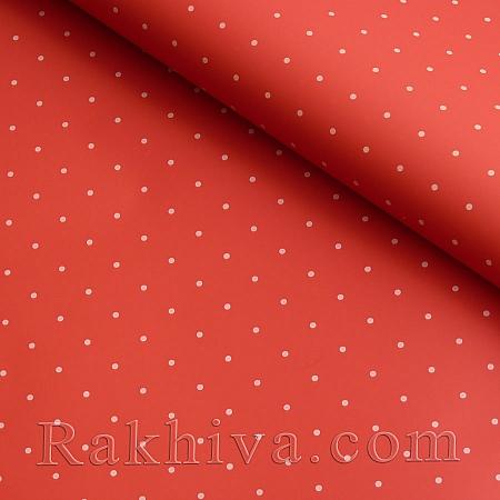 Целофан за опаковане , Точки/ червено,бяло  (70/100/151180-10)