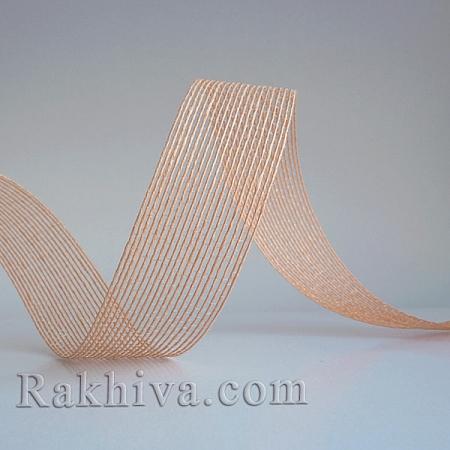 Тъкана хартиена панделка, праскова (30/15/2448)