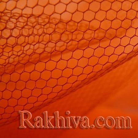 Сватбен тюл - оранжево - МАЛКИ ПАРЧЕНЦА (по-малки от 4 кв.м), оранжево (84/75) (за 1.9 л. м)