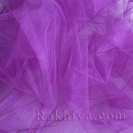 Кристален тюл - лилаво, лилаво за 1 линеен м (3 кв. м) 85/90