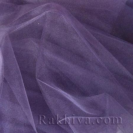 Кристален тюл - тъмно лилаво, тъмно лилаво за 1 линеен м (3 кв. м) 85/92