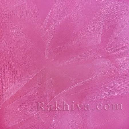 Кристален тюл, тъмно розово за 1 линеен м (3 кв. м) 85/42