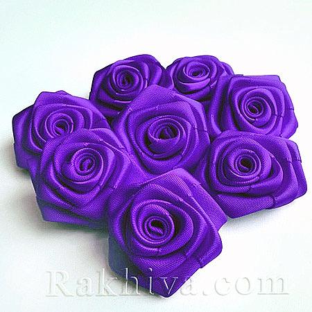 Розички Сатен, лилаво, 10бр. (QS08-24)