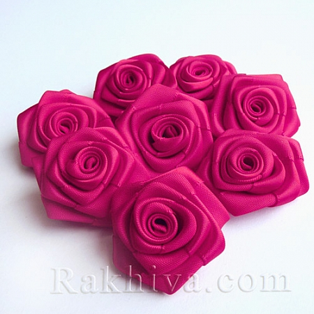 Розички Сатен, тъмна циклама, 10бр. (QS08-23)