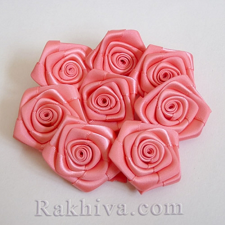 Розички Сатен, корал, 10бр. (QS08-12)