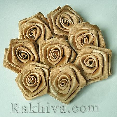 Розички Сатен, натурал, 10бр. (QS08-13)