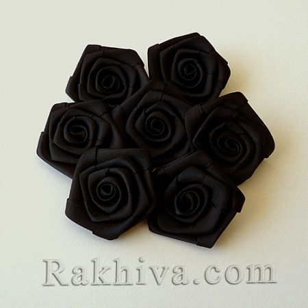 Розички Сатен, черно, 10бр. (QS08-18)