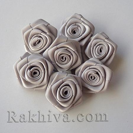 Розички Сатен, сребро, 10бр. (QS08-17)