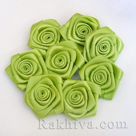 Розички Сатен, резеда, 10бр. (QS08-15)
