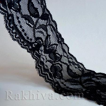 Дантела, 56мм/5м, черно (56/5/OCOR-I001-225)