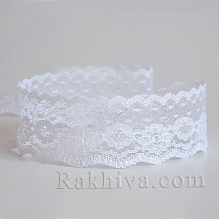 Дантела, 36мм/5м, бяло (OCOR-I001-027)