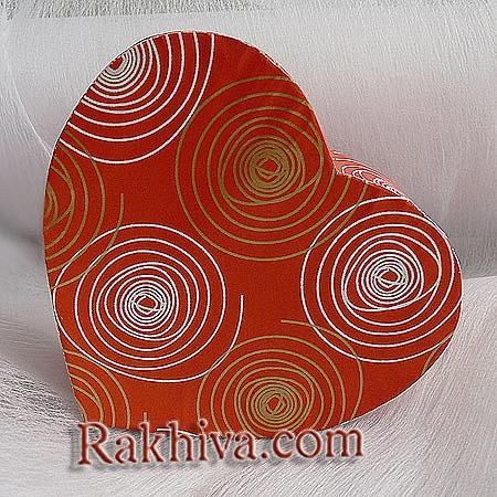 Кутия сърце Цвят №  111 червено, С2(шир.=7см/h=3см)
