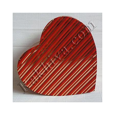 Кутия сърце Цвят № 003/35 метализе, С2(шир.=7см/h=3см)