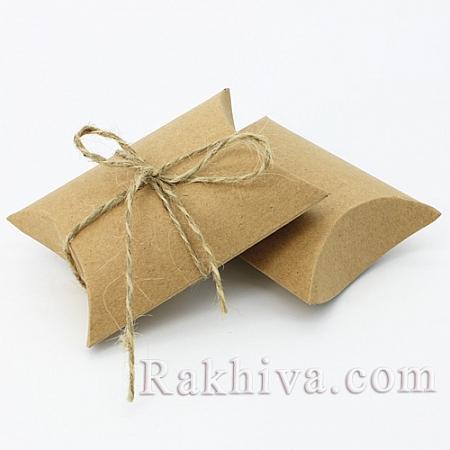 Малки кутийки за подаръчета КРАФТ, канап, 1 бр., 90x65x24mm
